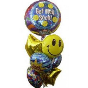 Get Well Balloon Arrangement