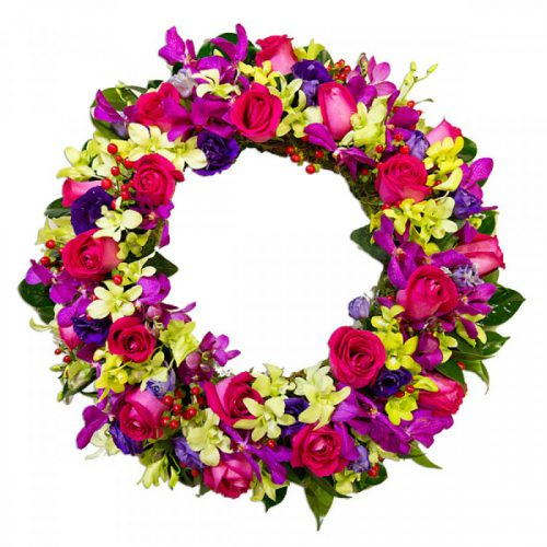 Vibrant Wreath Tribute