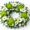 Green & White Wreath Tribute