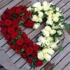 Red & White Rose Heart Tribute